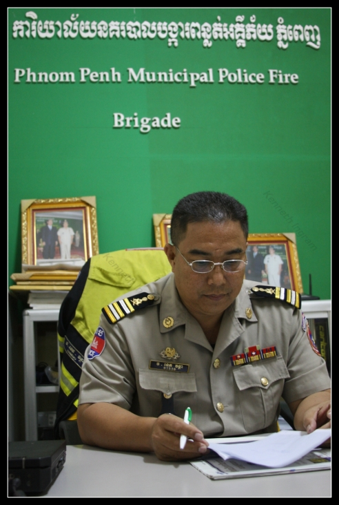 Neth Vantha, Fire Police Chief, Phnom Penh