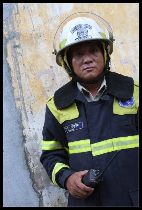 Unnamed Fire Fighter - Siem Reap