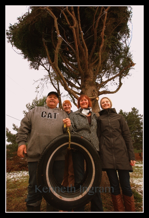 The MacPherson Family of Purlbrook, Antigonish. From left: John, Tyler, Ethel and Jessica