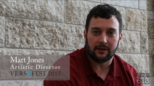 Matt Jones, Artistic Director of Ottawa's VERSeFEST 2015