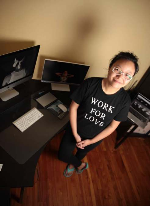 Fangliang Xu, at her studio in Ottawa. PHOTO by Ken Ingram